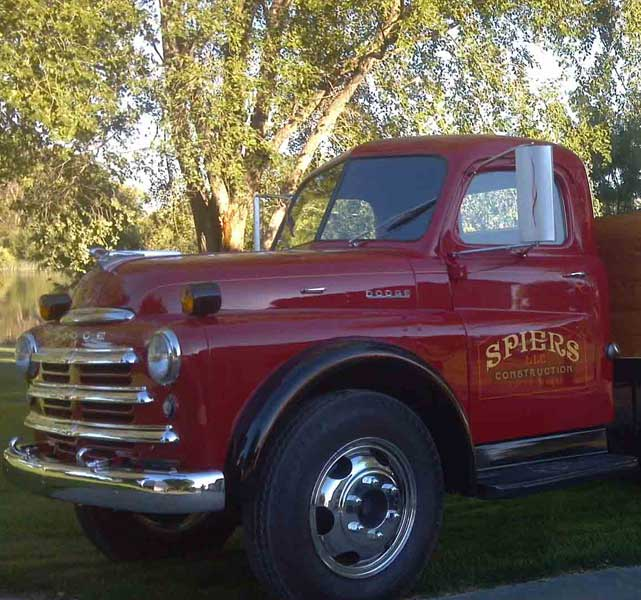 1950s dodge work truck classic red